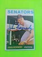 1964 TOPPS Signed Autograph #203 John Kennedy Senators .