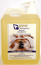 1Ltr Water Dispersible Premium Massage Oil Therapists Relax  & Remedial NO NUTS
