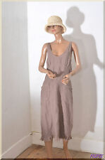 robe longue marron LA FEE MARABOUTEE Taille 40 ref 051793
