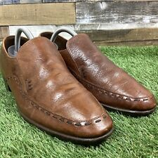 UK7.5 Loake Otley Apron Derby Brown Leather Shoes - Slip On - Made In England