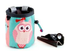 Rock Climbing Chalk Bag Animals Cute Funny Owl Design Gear for Bouldering M