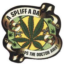 A Spliff A Day Keeps The Doctor Away II - Drugs Peace - Aufkleber Sticker #210