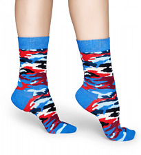 Bark Happy Socks Trouser Crew Sock Blue & Red New Women's Size 9-11 Fashion