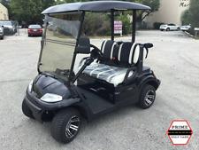 BLACK 2 PASSENGER ADVANCED EV CUSTOM SEATS GOLF CART FAST LUXURY 24MPH CAR