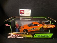 Joyride RC2 Ertl The Fast and Furious 1:24 1995 Toyota Supra w/ Brian Figure