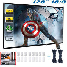 120 Inch 16:9 HD Projector Projection Screen Home Theater Movie Cinema Outdoor