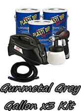 3 Gallons Gunmetal Grey Performix Plasti Dip Dyc Dipsprayer Gun Bundle Kit