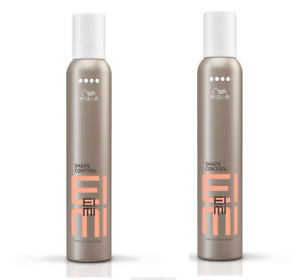 Wella Eimi Shape Control Hair Styling Mousse 500ml x2 Strong Hold Hair Mouse