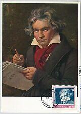 63501 -  BULGARIA - POSTAL HISTORY: MAXIMUM CARD 1971 -  MUSIC  Beethoven