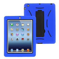 Blue Hybrid Case Rugged Shockproof Full Cover Body Skin For Apple iPad 2 3 4