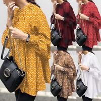 Women Casual Summer Oversized Tops Shirt Retro Floral Plaid Check Blouse T-Shirt