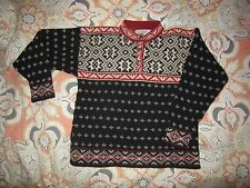 Vintage LL Bean Nordic Icelandic Norwegian Wool Sweater Women's med Made in USA