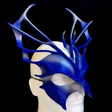Leather Mask Blue & Silver Mardi Gras Mask Masquerade Halloween Mask Carnival