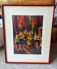New Orleans Jazz Music Art Martin Neeld Original Watercolor Preservation Hall