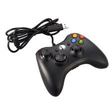 CONTROLLER JOYSTICK XBOX 360 JOYPAD COMPATIBILE PC CAVO USB BIANCO NERO CON FILO