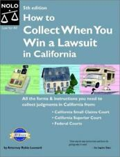 How to Collect When You Win a Lawsuit in California(5th Edition), Robin Leonard,