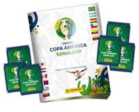Panini  Copa America Brasil 2019 Official Album + 50 packs of 5 stickers = 250