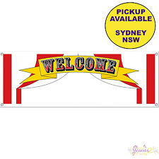 CIRCUS PARTY SUPPLIES CARNIVAL PLASTIC WELCOME SIGN BIRTHDAY BANNER DECORATIONS
