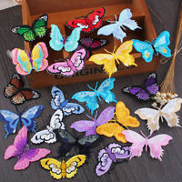 DIY Butterfly Embroidery Sew On Iron on Patch Badge Bag Fabric Applique Craft