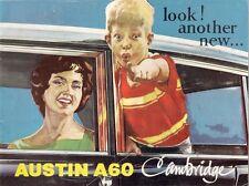 Austin A60 Cambridge Saloon 1961-63 UK Market Sales Brochure Standard De Luxe