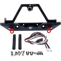 Metal Front / Back Bumper with Light for Axial SCX10 III 1/10 RC Climbing Car
