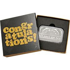 2017 Retirement 1oz .999 Fine Silver Bar (Congrats Glitter Box)