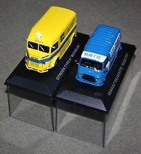 Lot de 2 miniatures 1:43 Citroën type H et Renault Estafette Ixo/Altaya DEFAUTS
