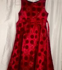 Beautiful NWOT Red Christmas Holiday Dress Bonnie Jean 16.5 NEW