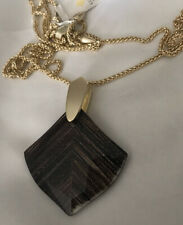 New Kendra Scott Aislinn Adjustable Pendant Necklace Brown Dusted Glass $90.00
