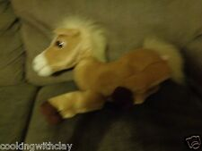 VIVID ANIMAGIC HONEY MY BABY PONY HORSE BUTTERSCOTCH COLORED FUR PLUSH REAL PET