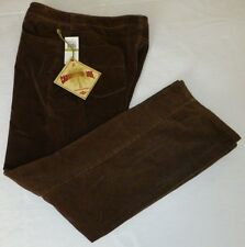 Caribbean Joe Womens Pants Espresso Brown  14 x 31 NWT Cotton Crushed Corduroy