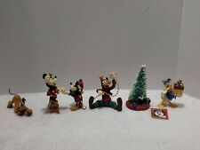 Midwest Of Cannon Falls Mickey & Co Mickey & Friends Christmas Figurine Set