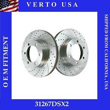 Front Brake Rotors Drill & Slot For Toyota Sequoia 2003-2007 & Tundra 2003-2006