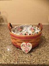 1995 Longaberger Mother's Day Basket Combo w/Liner, Protector and Tie-On