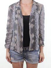 RIVER ISLAND snake print silk feel short boxy evening blazer jacket size 12