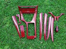 BMW 99-06 E53 X5 4.6is OEM IMOLA Red CONSOLE DASH DOOR PANEL TRIM MOLDING Kit