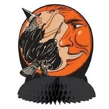 Halloween Classic WITCH AND MOON CENTERPIECE Decoration * Beistle