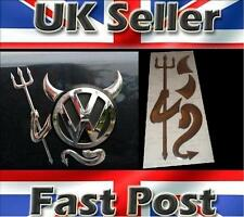 3D Dome Devil Demon Car Sticker Decal Badge Silver Chrome Effect VW T4 T5 GOLF