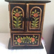 Hand painted jewlery cuboard