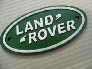 LARGE ANTIQUE VINTAGE STYLE CAST IRON ADVERTISING SIGN LAND ROVER WALL PLAQUE