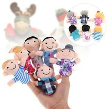 6pcs Family Finger Puppets for Boy Girl Kids Tell Story Educational Hand Toy UP