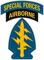 "Special Forces Airborne US Army Logo Color Vinyl Decal  Pick Your Size 2""-38"""