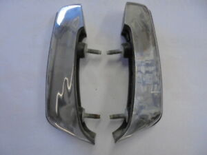 1989 1990 Cadillac Fleetwood/Deville Left and Right Front Bumper Guards Chrome.