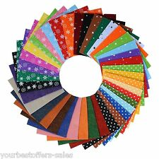 Polyester Felt Non Woven Fabric Craft Supplies Quilting Fabric Charm Packs New