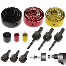 8 Pcs Wood Alloy Iron Cutter Bimetal Hole Saw Drill Bit Kit w Hex Wrench