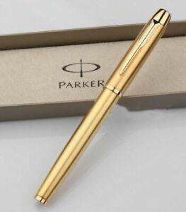 Original Parker IM Series Rollerball Pen Golden Gold Trim With 0.5mm Black Ink