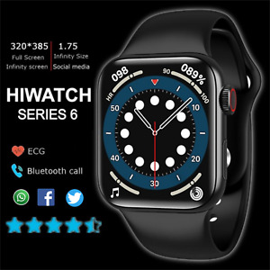 2021 T500+ 1.75 FULL HD Smart Watch 6 MAKE CALL Camera Heart Monitor Android iOS