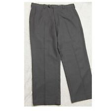 Louis Raphael Dress Pants Mans 36 Waist 29 Inseam Gray Flat Front Polyester P233