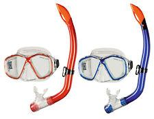 BECO Kinder Schnorchel-Set Tauchermaske Taucherbrille Bari 8+ rot / blau
