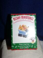 1998 Hallmark Pluto's Coal Car Merry Miniatures Figurine Mickey Mouse Xmas Train